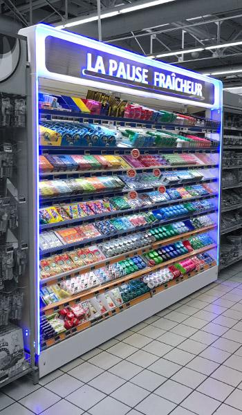 Boutique linéaire - boutique lumineuse