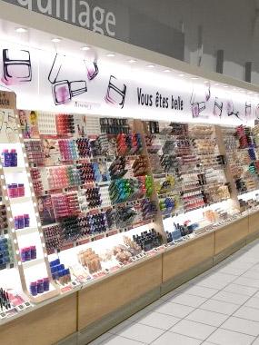Linéaire maquillage Systeme U