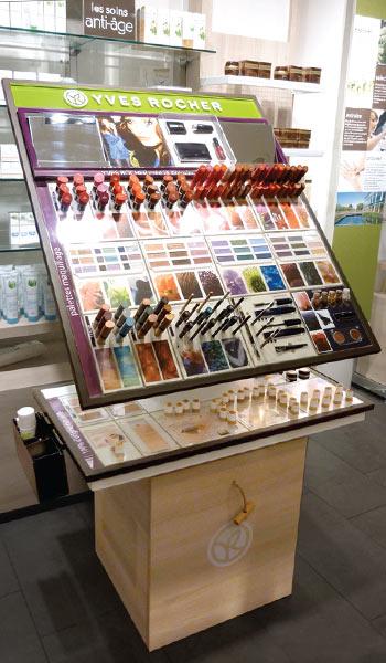 Mobilier retail - Testeur maquillage